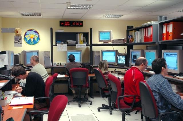 Centre de contrôle Parasol au CNES à Toulouse. Crédits : CNES/G. Philippe.