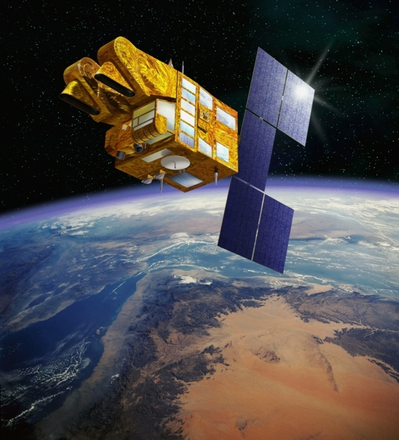 The SPOT 5 satellite, in orbit since 2002. Credits: CNES/Ill. D. Ducros.