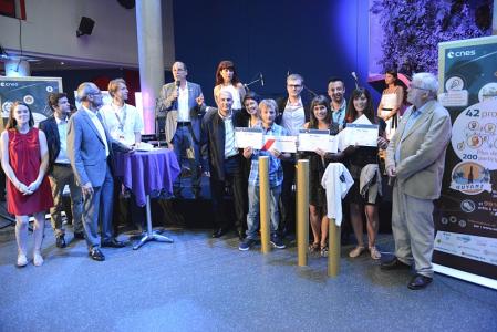 Les lauréats d'#ActInSpace. Crédits CNES/R. Barranco