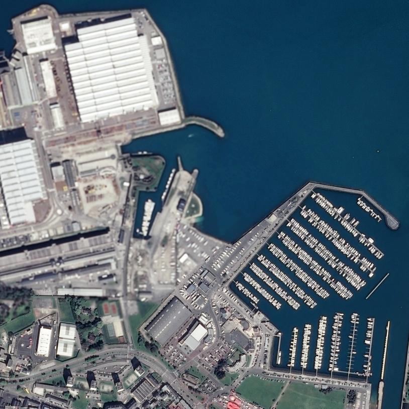 Cherbourg vue par Pléiades