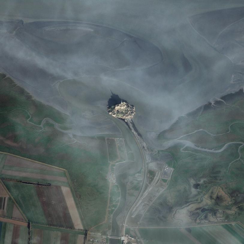 Le Mont Saint-Michel vu par Pléiades