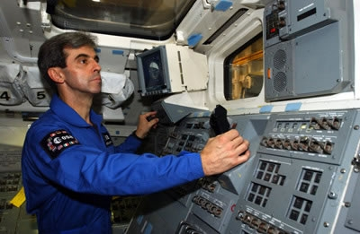 Léopold Eyharts en entraînement au Johnson Space Center au Texas. Crédits : ESA/S. Corvaja