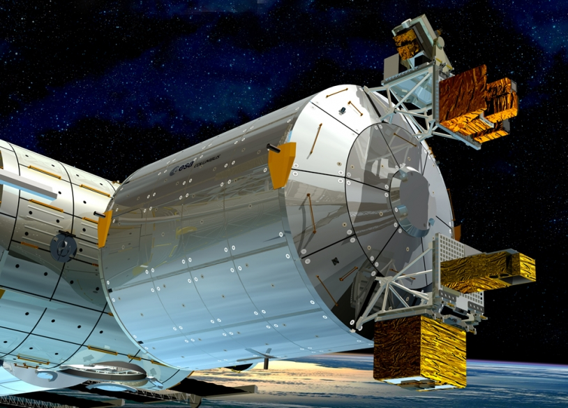 Columbus module. Artist view. Credit: ESA - D. Ducros