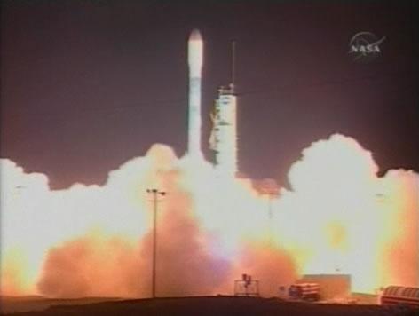 Le décollage a eu lieu à 9h46 (heure de Paris). Crédit : NASA.
