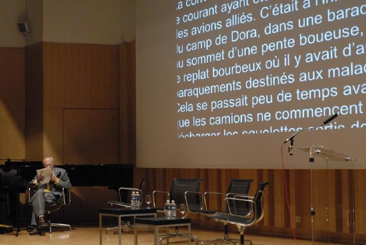 L'écrivain slovène Boris Pahor. Crédits : CNES/C. Urbain.