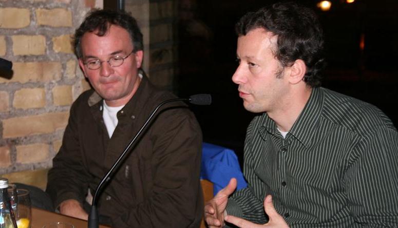 François Spiero et Pierre-Emmanuel Paulis lors du débat. Crédits : ULP/Master CS