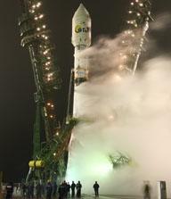 CoRoT s'est envolé depuis le cosmodrome de Baïkonour le 27 décembre 2006. Crédits : CNES/AAS/Starsem 2006.