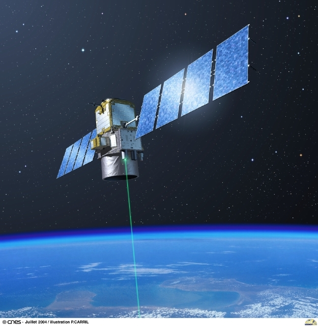 CALIPSO's laser has been probing Earth's atmosphere tirelessly since 2006. Credits: CNES/Ill. P. Carril.