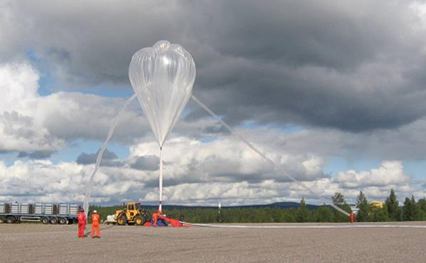 Ballon LPMA. Crédits : B. Gaubicher/LPC2E/CNRS/Univ Orléans.