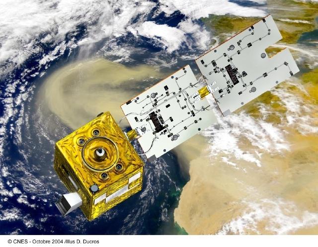 Parasol est en orbite depuis le 18 décembre 2004. Crédits : CNES/Ill. D. Ducros.