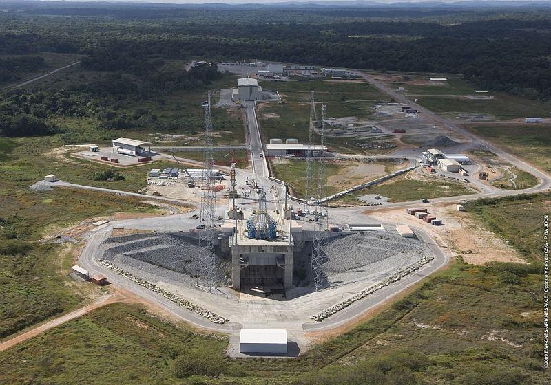 Avancement du chantier Soyouz en Guyane en novembre 2009. Crédits : CNES/ESA/Arianespace/P. Baudon.