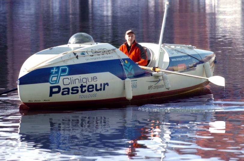 L'embarcation de Serge Jandaud prendra le chemin de l'Australie le 10 mai. Crédits : La Dépêche du Midi.