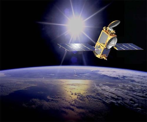 CNES's T2L2 instrument is on the Jason-2 satellite at an altitude of 1,336 kilometres. Credits: NASA.