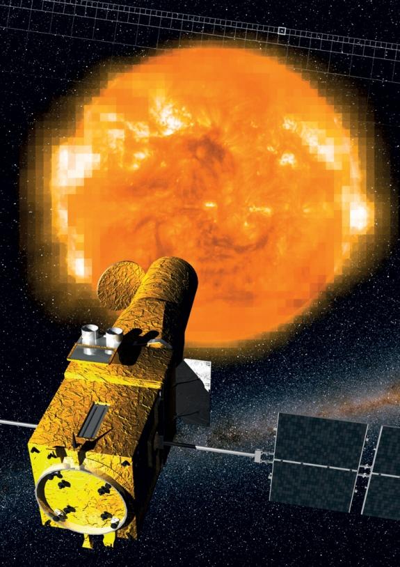 Crédits : Instituto de Astrofisica de Canarias / ESA/ SOHO