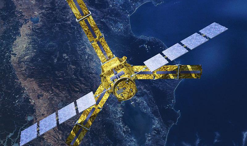 Petit dernier, équipé d'une plateforme Proteus, SMOS a rejoint l'Espace en 2009. Crédits : CNES/Ill. P. Carril.