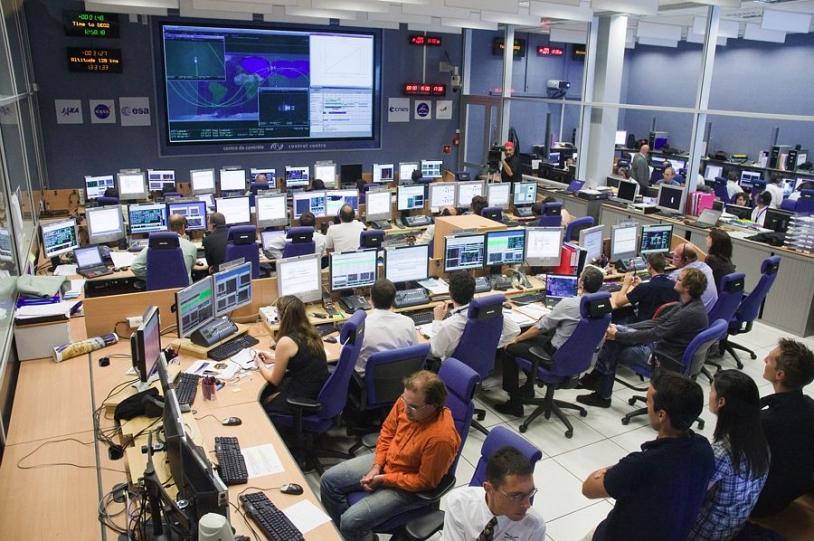 Centre de contrôle ATV-CC au CNES à Toulouse. Crédits : CNES/H. Piraud.