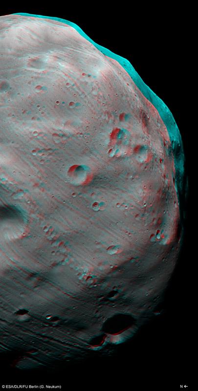 Image 3D réalisée par la caméra stéréo HRSC le 7 mars avec une résolution de 4,4 m par pixel. Crédits : ESA/DLR/FU Berlin (G. Neukum).