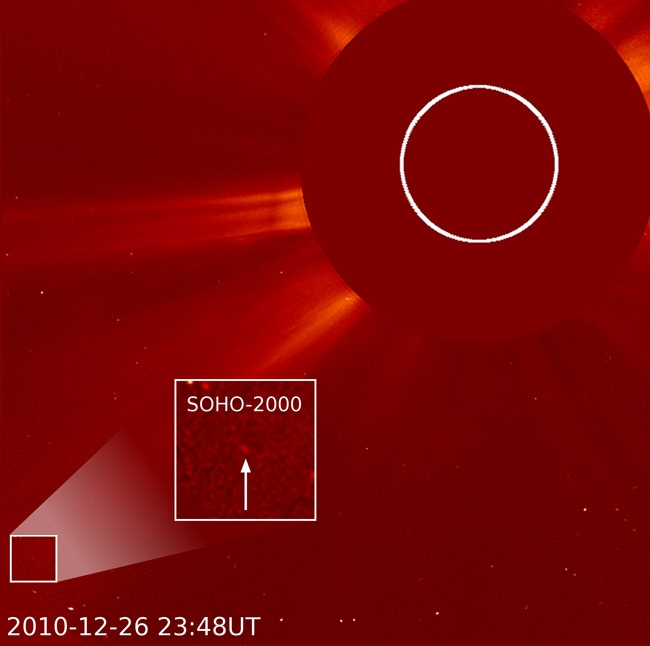 La 2000e comète de SOHO. Crédits : SOHO/Karl Battams.