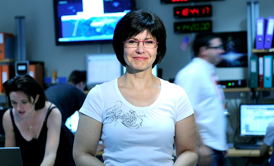 Thérèse Barroso, in charge of Parasol operations at CNES. Credits: CNES/E. Grimault 2010.