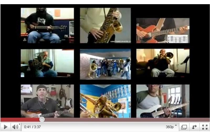 Photogramme extrait de « Kutiman mixe Youtube ». Crédits : Forum des Images.