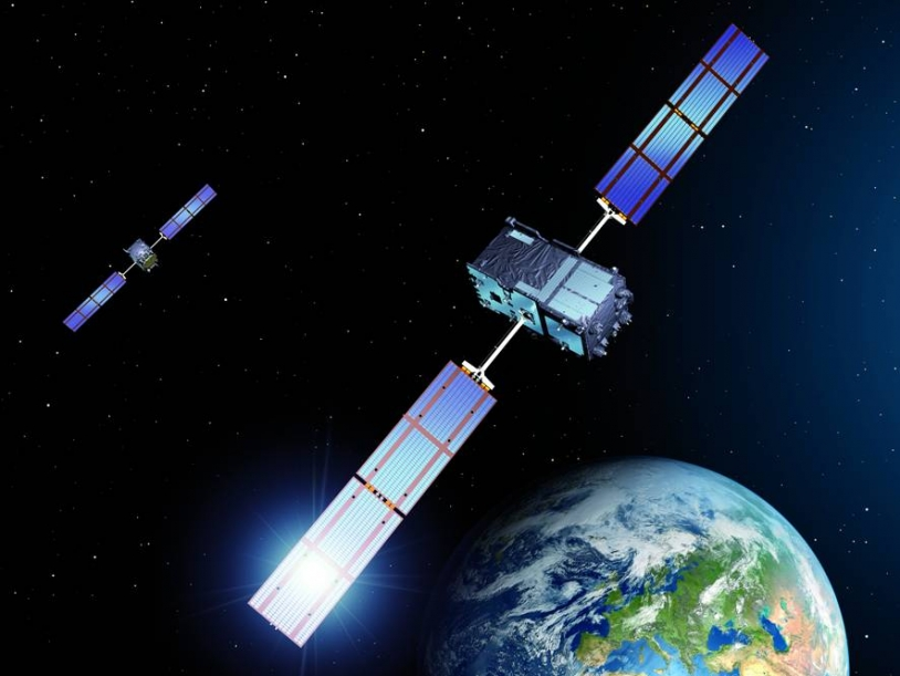 The first two satellites of the Galileo constellation are scheduled to launch on 20 October. Credits: Astrium.