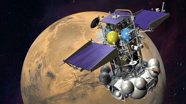Phobos-Grunt probe. Credits: Ill. Roscosmos.