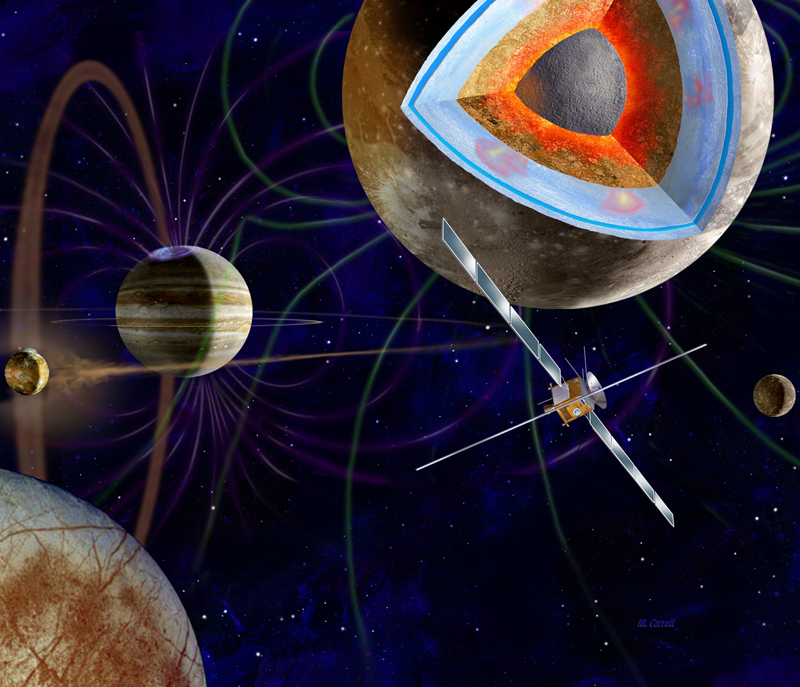 La sonde européenne JUICE devrait s'envoler pour la planète Jupiter en 2022. Crédits : ESA/AOES.