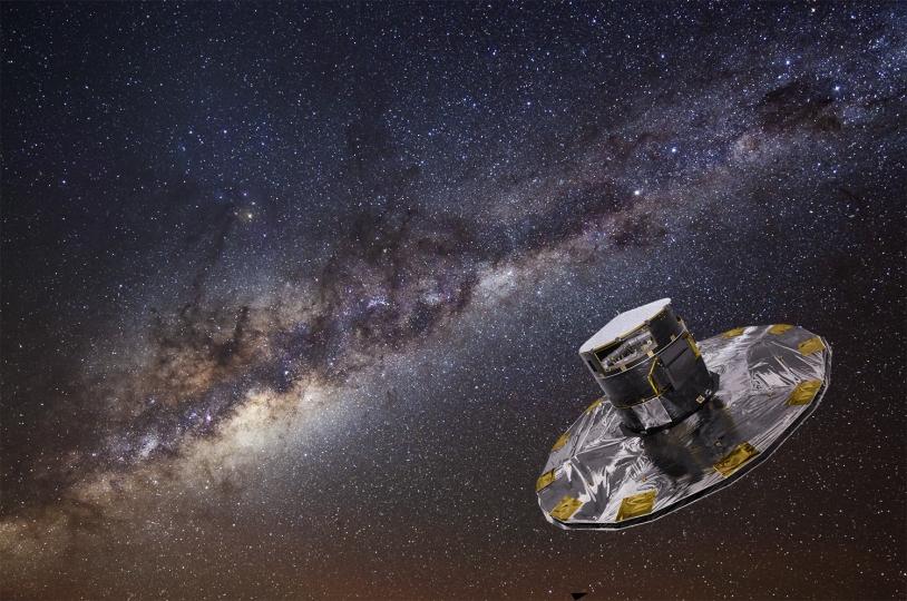 Grâce à son œil perçant, le satellite Gaia pourrait voir un objet se déplacer d'un centimètre à la surface de la Lune! Crédits: ESA–D. Ducros, 2013.