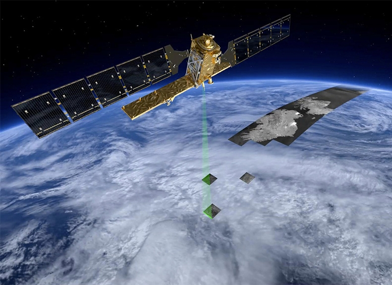 The Sentinel-1A satellite will supply radar imagery of Earth's surface. Credits: ESA/P. Carril.