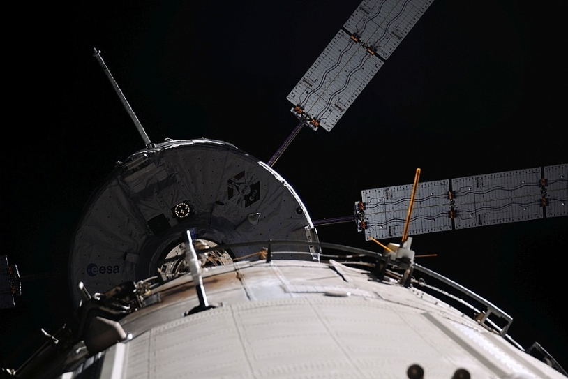 Like its predecessor ATV-4, shown here in 2013, ATV-5 successfully docked with the ISS this Tuesday 12 August. Credits: ESA/NASA.