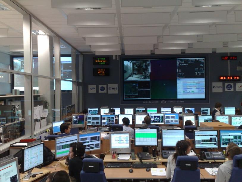 Le centre de contrôle ATV-CC à Toulouse. Crédits : ESA.