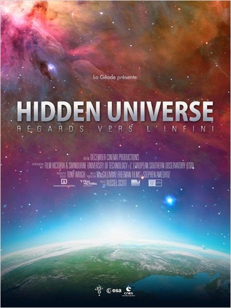 Hidden Universe à partir du 15 octobre 2014 en IMAX 180° à la Géode, à Paris. Crédits : La Géodes/Cité des Sciences et de l'Industrie.