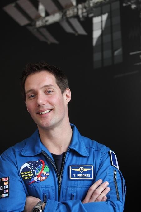 L'astronaute français de l'ESA Thomas Pesquet.