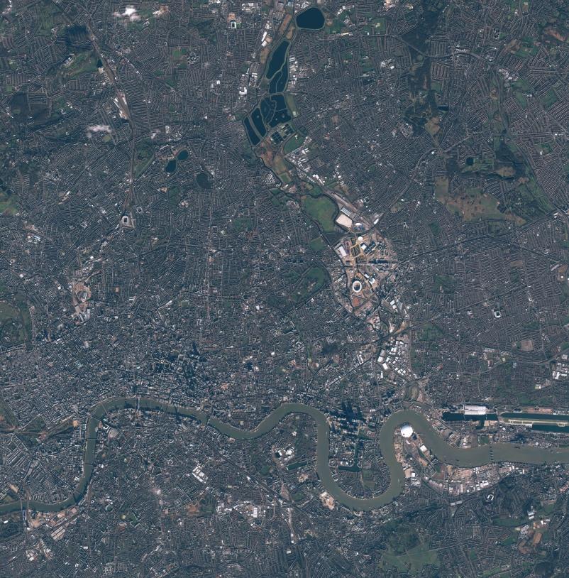 Londres par Pléiades 1A