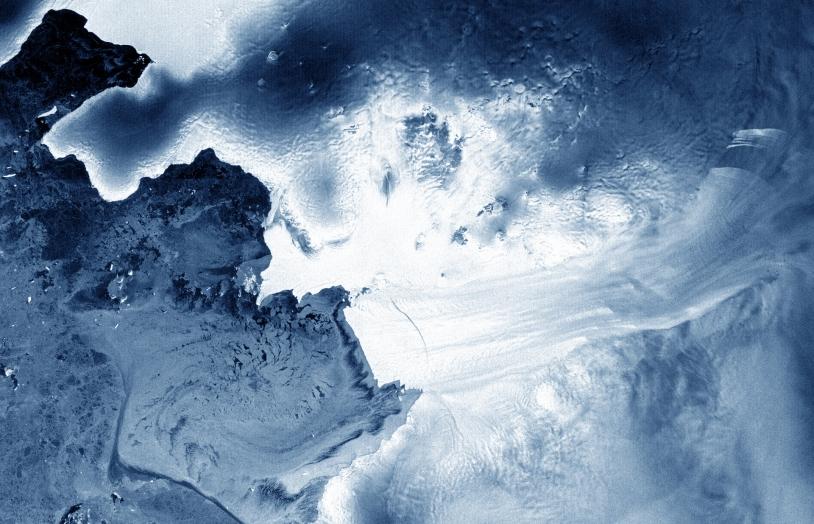 Fissure dans le glacier du Pine Island par Envisat