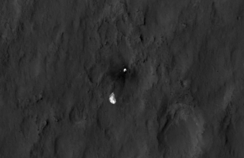 Le parachute de Curiosity