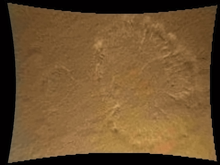 Le souffle des moteurs de Curiosity sur le sol martien